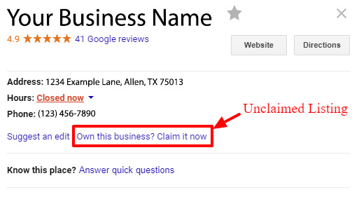 Image of Claiming Google Business