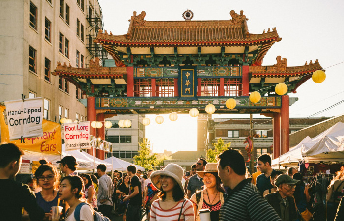 Chinatown Gate at dusk