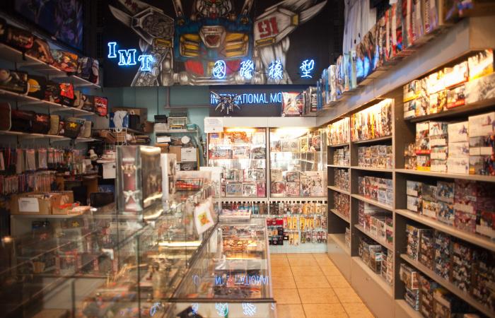 Interior of International Model Toys