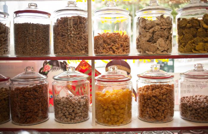 Jars at the herbal shop