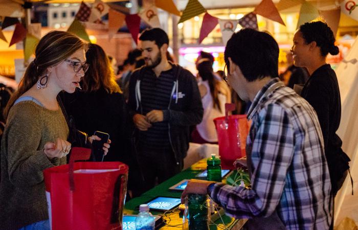 Beer Garden at Night Market