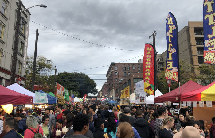 Attendees flood the streets of Night Market