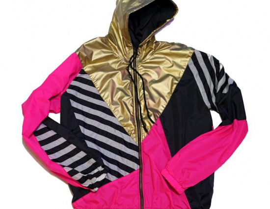 Gold Hood Pink Black Track Jacket