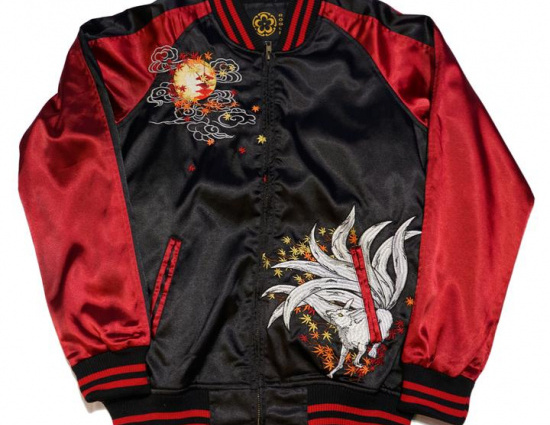Sukajan Red Nine Tailed Fox Jacket
