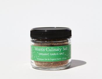 Organic Garlic Salt 2 oz Jar