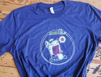 Oasis T-Shirt: Navy Blue Character Shirt
